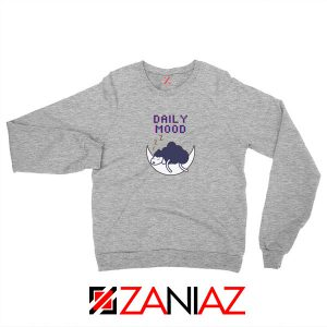 Daily Mood Laziness Sport Grey Sweatshirt