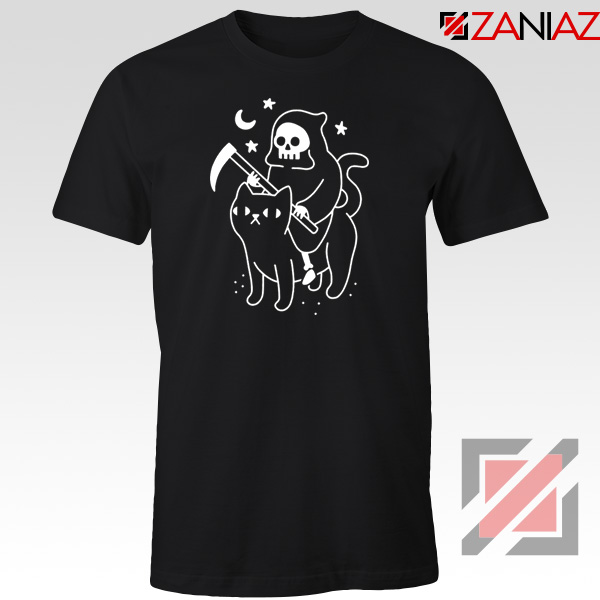 Death Rides Cat Graphic New Tshirt