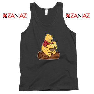 Disney Winnie The Pooh Black Tank Top