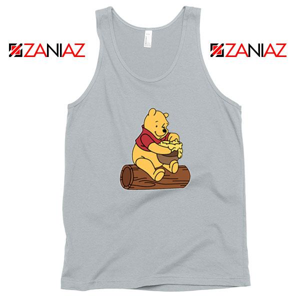 Disney Winnie The Pooh Sport Grey Tank Top