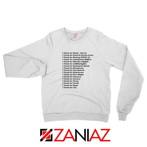 I Voted for Biden Harris New Sweatshirt