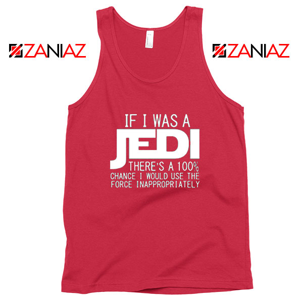 If I Was a Jedi Vintage Red Tank Tops