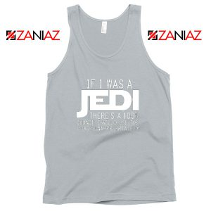 If I Was a Jedi Vintage Sport Grey Tank Tops