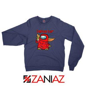Impostor Baby Yoda Star Wars Navy Blue Sweatshirt