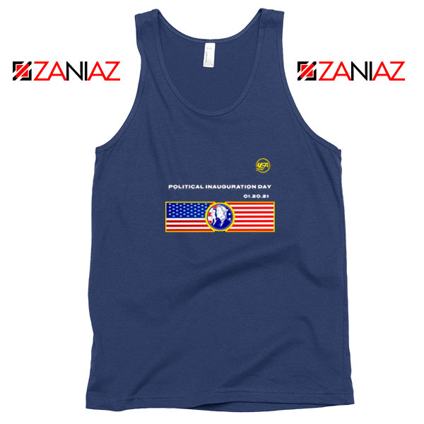 Inauguration Day USA Best Navy Blue Tank Top