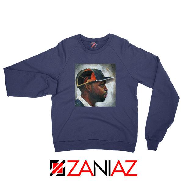 J Dilla American Rapper Navy Blue Sweatshirt