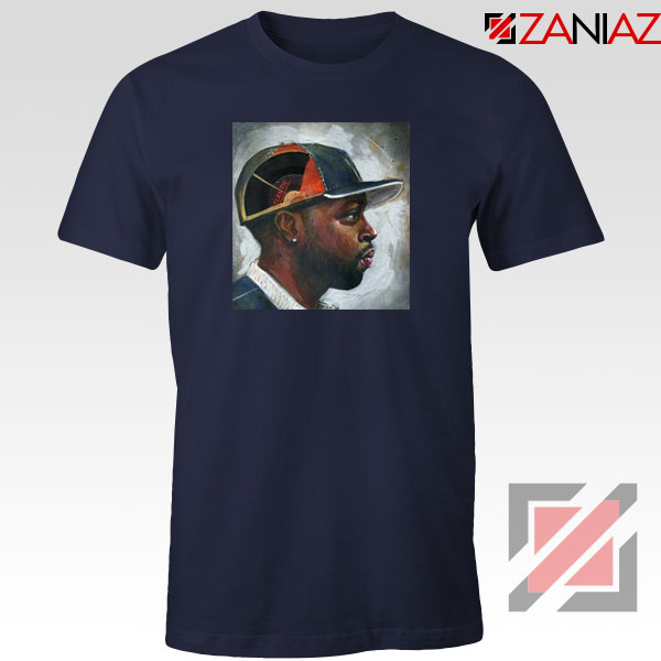 J Dilla Rapper Merch Navy Blue Tshirt
