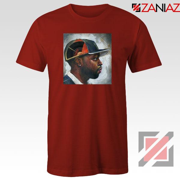 J Dilla Rapper Merch Red Tshirt