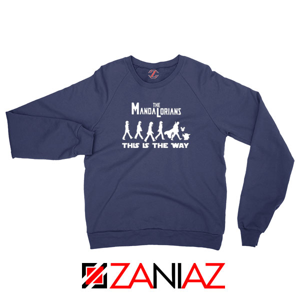Mandalorian The Beatles Best Navy Blue Sweatshirt