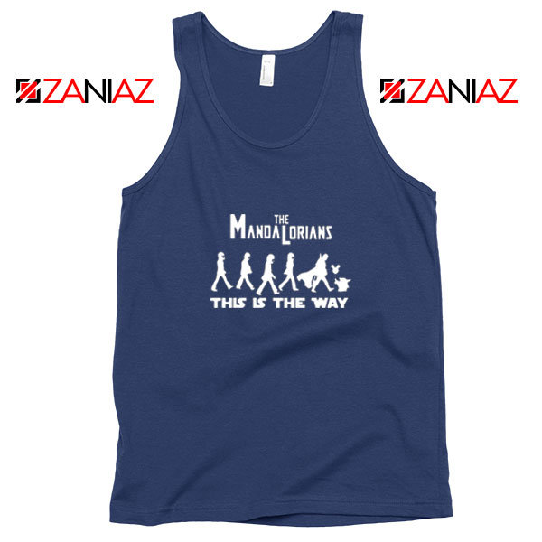 Mandalorian The Beatles Best Navy Blue Tank Top