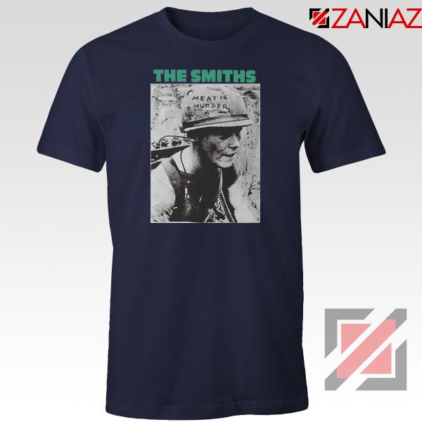 Meat Is Murder Album The Smiths Navy Blue Tshirt