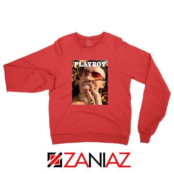 Play Boy Bad Bunny Red Sweatshirt