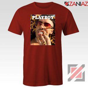 Play Boy Bad Bunny Red Tshirt