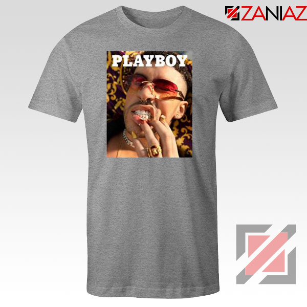 Play Boy Bad Bunny Sport Grey Tshirt