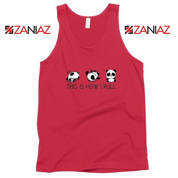 Roll Panda Animal Red Tank Top