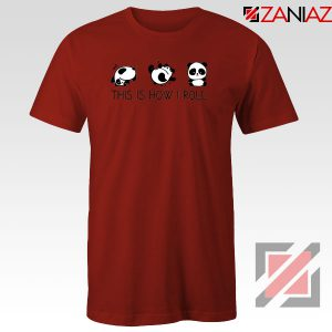 Roll Panda Animal Red Tshirt