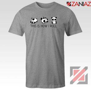 Roll Panda Animal Sport Grey Tshirt