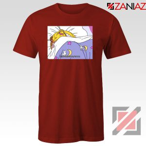 Sailor Moon Anime Stay In Bed Red Tshirt