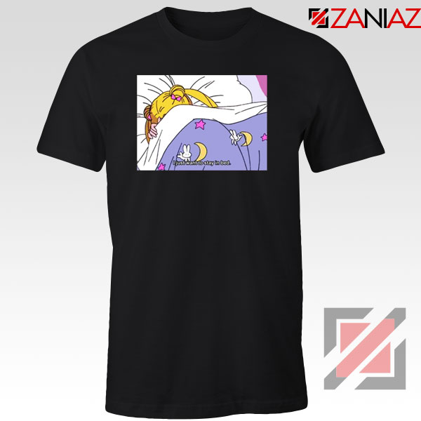 Sailor Moon Anime Stay In Bed Tshirt