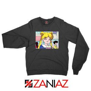 Sailor Moon Eating So Happy New Sweatshirt