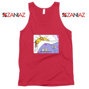 Sailor Moon Stay In Bed Graphic Red Tank Top