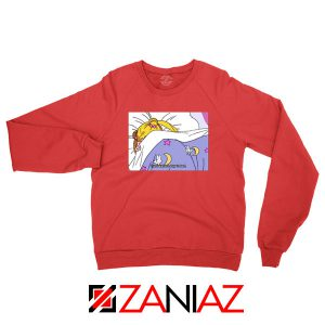 Sailor Moon Stay In Bed New Red Sweatshirt
