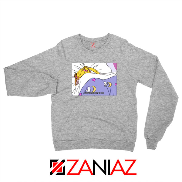 Sailor Moon Stay In Bed New Sport Grey Sweatshirt