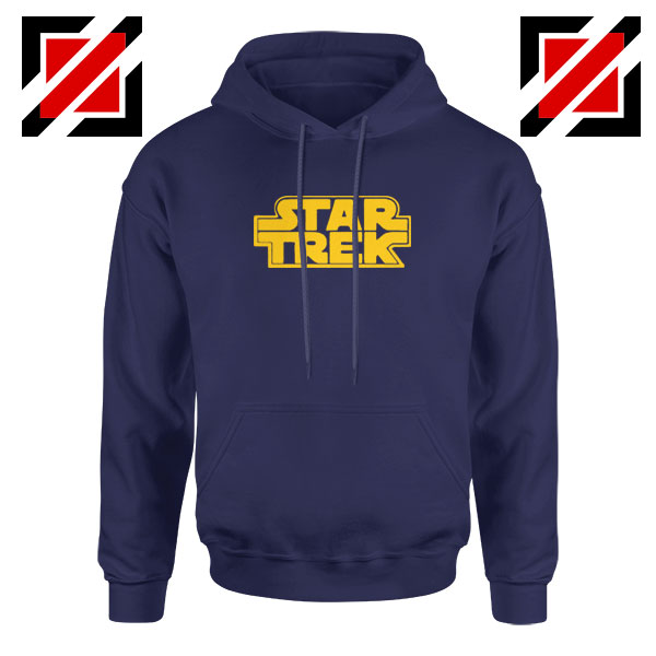 Star Trek Logo Star Wars Best Navy Blue Hoodie