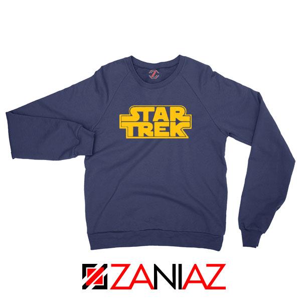 Star Trek Logo Star Wars Best Navy Blue Sweatshirt