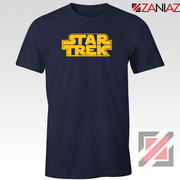 Star Trek Logo Star Wars Best Navy Blur Tshirt