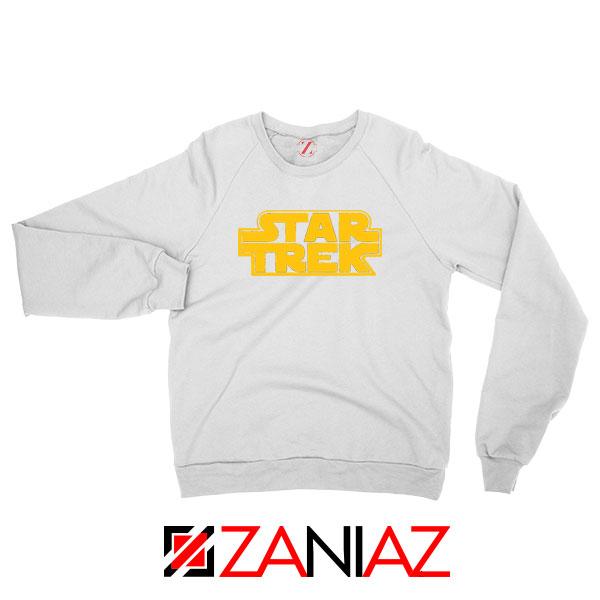 Star Trek Logo Star Wars Best White Sweatshirt