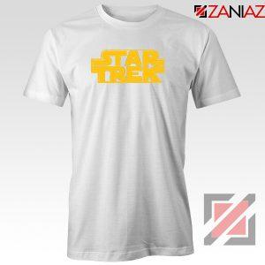 Star Trek Logo Star Wars Best White Tshirt