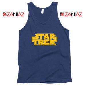 Star Trek Logo Star Wars Navy Blue Tank Top
