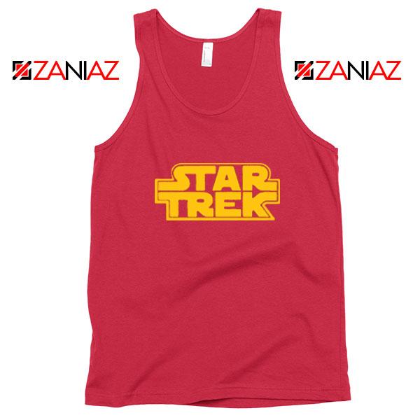Star Trek Logo Star Wars Red Tank Top