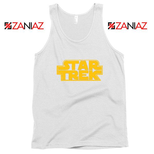 Star Trek Logo Star Wars White Tank Top