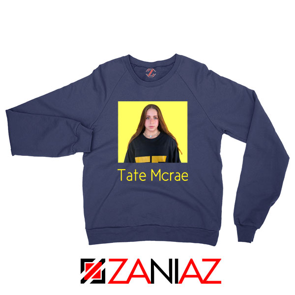 Tate Mcrae Canadian Singer Navy Blue Sweatshirt