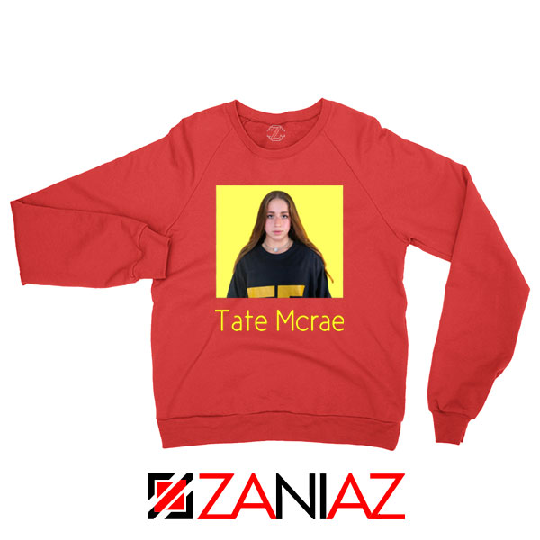 Tate Mcrae Canadian Singer Red Sweatshirt