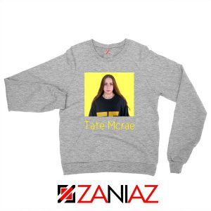 Tate Mcrae Canadian Singer Sport Grey Sweatshirt