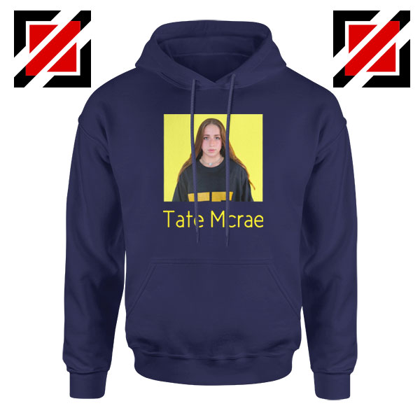 Tate Mcrae Graphic Navy Blue Hoodies