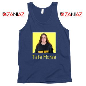 Tate Mcrae Graphic Vintage Navy Blue Tank Tops