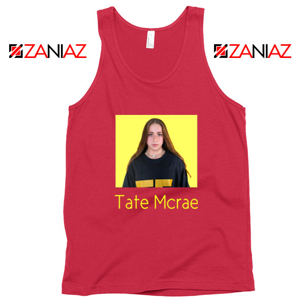 Tate Mcrae Graphic Vintage Red Tank Tops