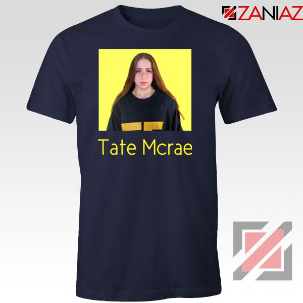 Tate Mcrae Singer Navy Blue Tshirt