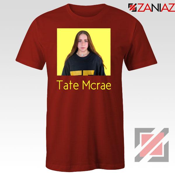 Tate Mcrae Singer Red Tshirt