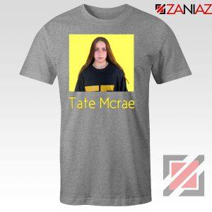 Tate Mcrae Singer Sport Grey Tshirt