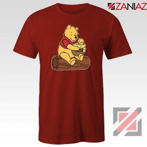 The Pooh Cartoon Red Tshirt