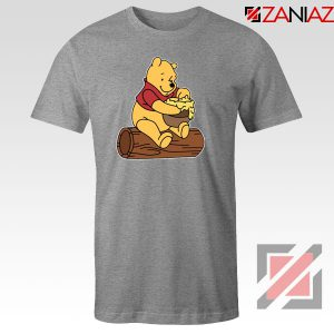 The Pooh Cartoon Sport Grey Tshirt