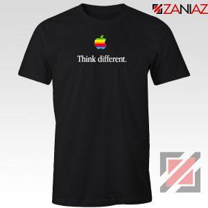 Think Different Apple Slogan Black Tshirt