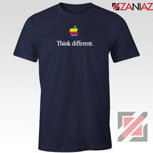 Think Different Apple Slogan Navy Blue Tshirt