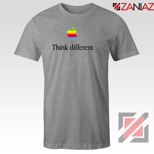Think Different Apple Slogan Sport Grey Tshirt