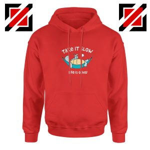 Turtle Relax Life Is Good New Red Hoodie